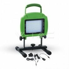 V-TAC Προβολέας LED 20W Επαναφορτιζόμενος Φορητός Ψυχρό Φως