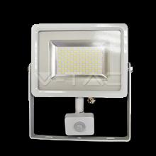 V-TAC Προβολέας LED 30W Λευκός με Aισθητήρα Ψυχρό Φως